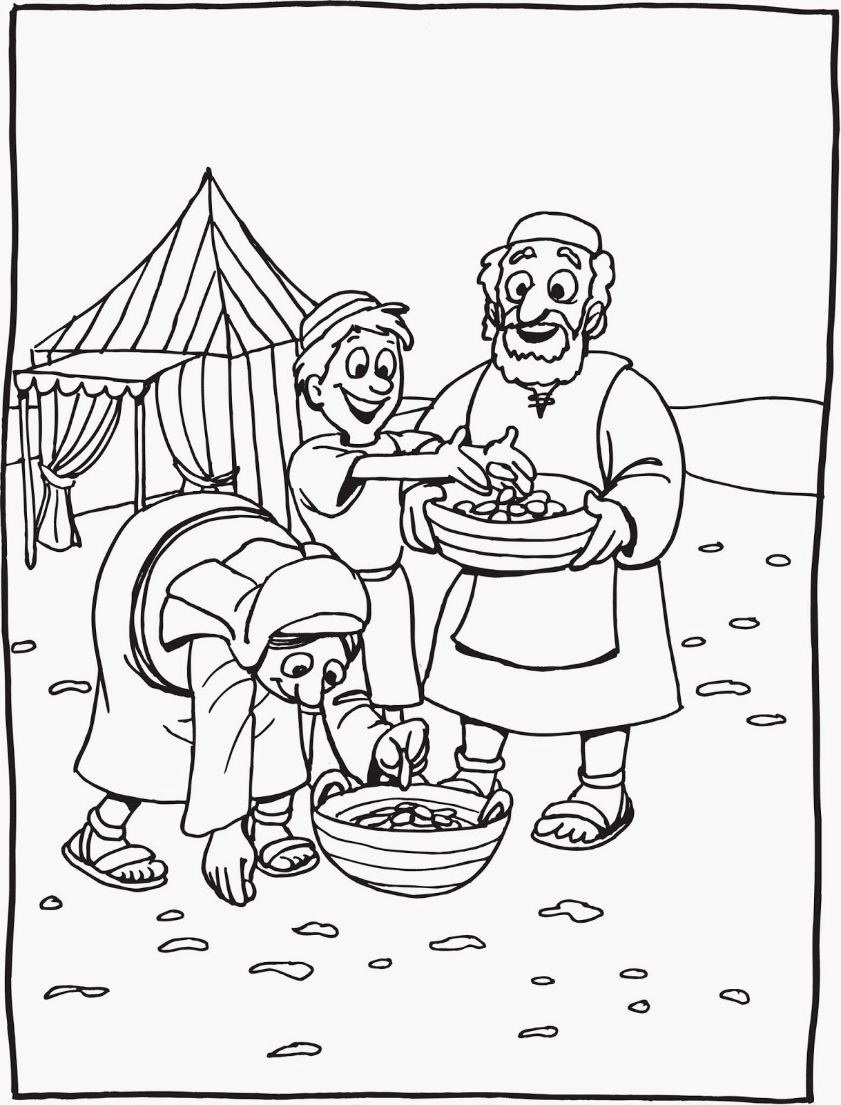 Coloring Page God Gives Us Food