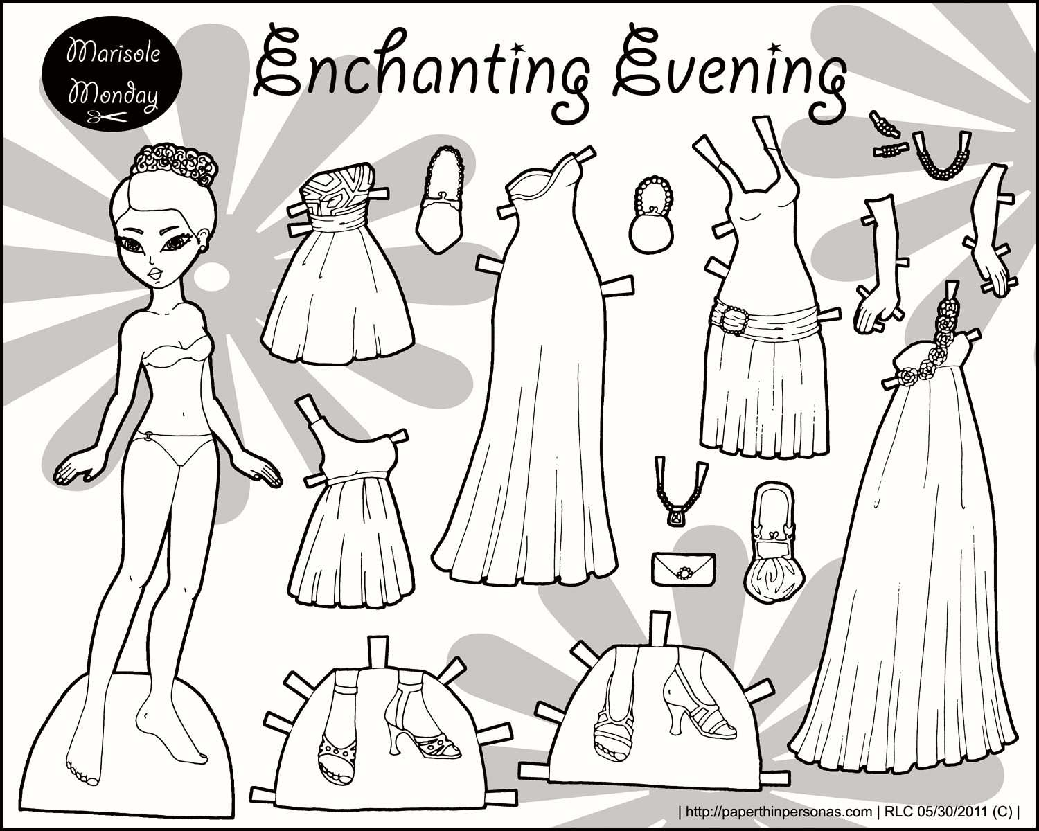 Paper Doll Clothes Coloring Pages Coloring Home