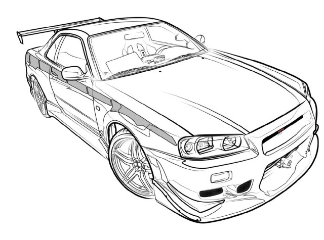 GTR Coloring Pages - Coloring Home