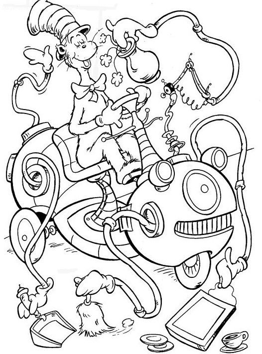 the cat in the hat coloring pages # 53