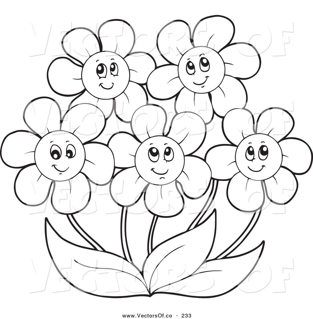 Simple May Coloring Pages
