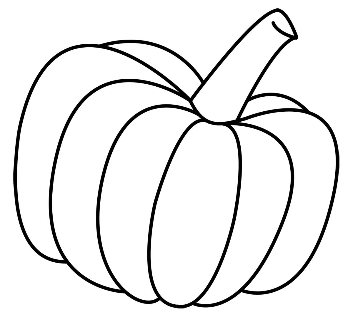 Pumpkin Outline Clipart Clipart Kid Coloring Home