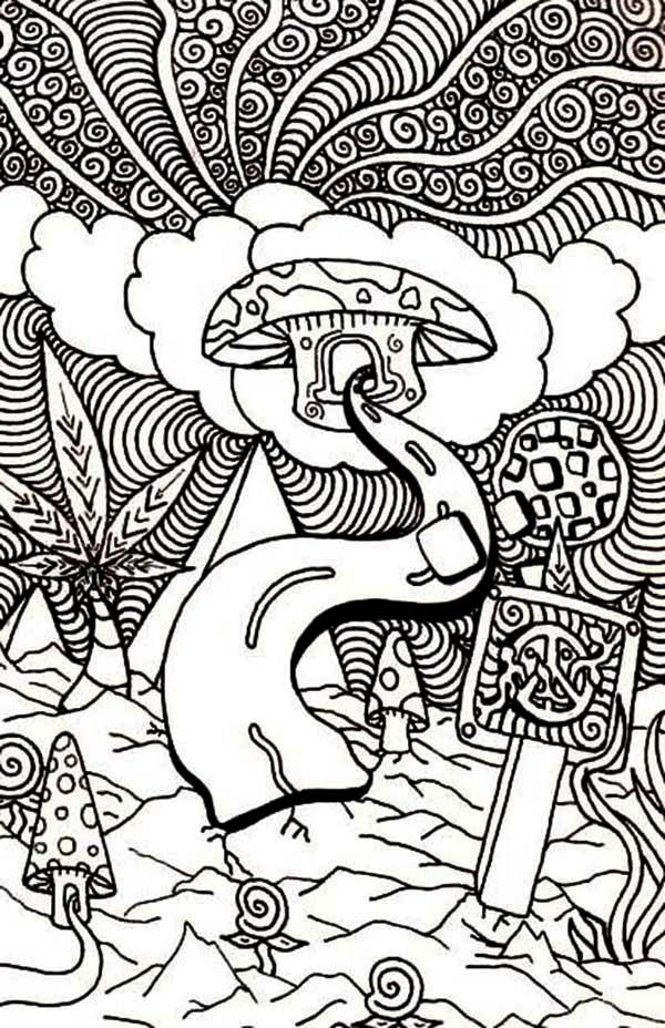 Trippy Alice In Wonderland Coloring Pages Coloring Home