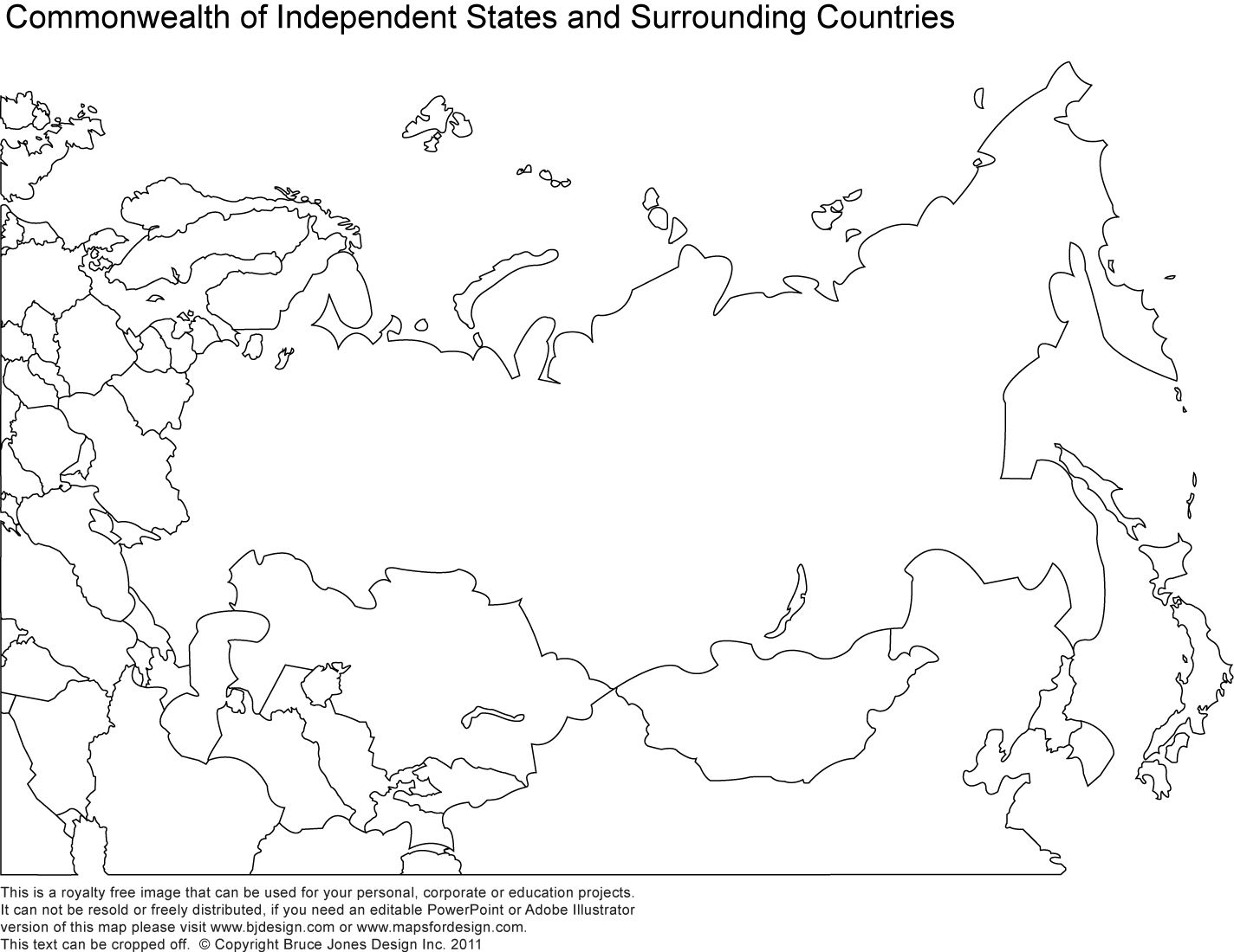 Printable Map Of Russia