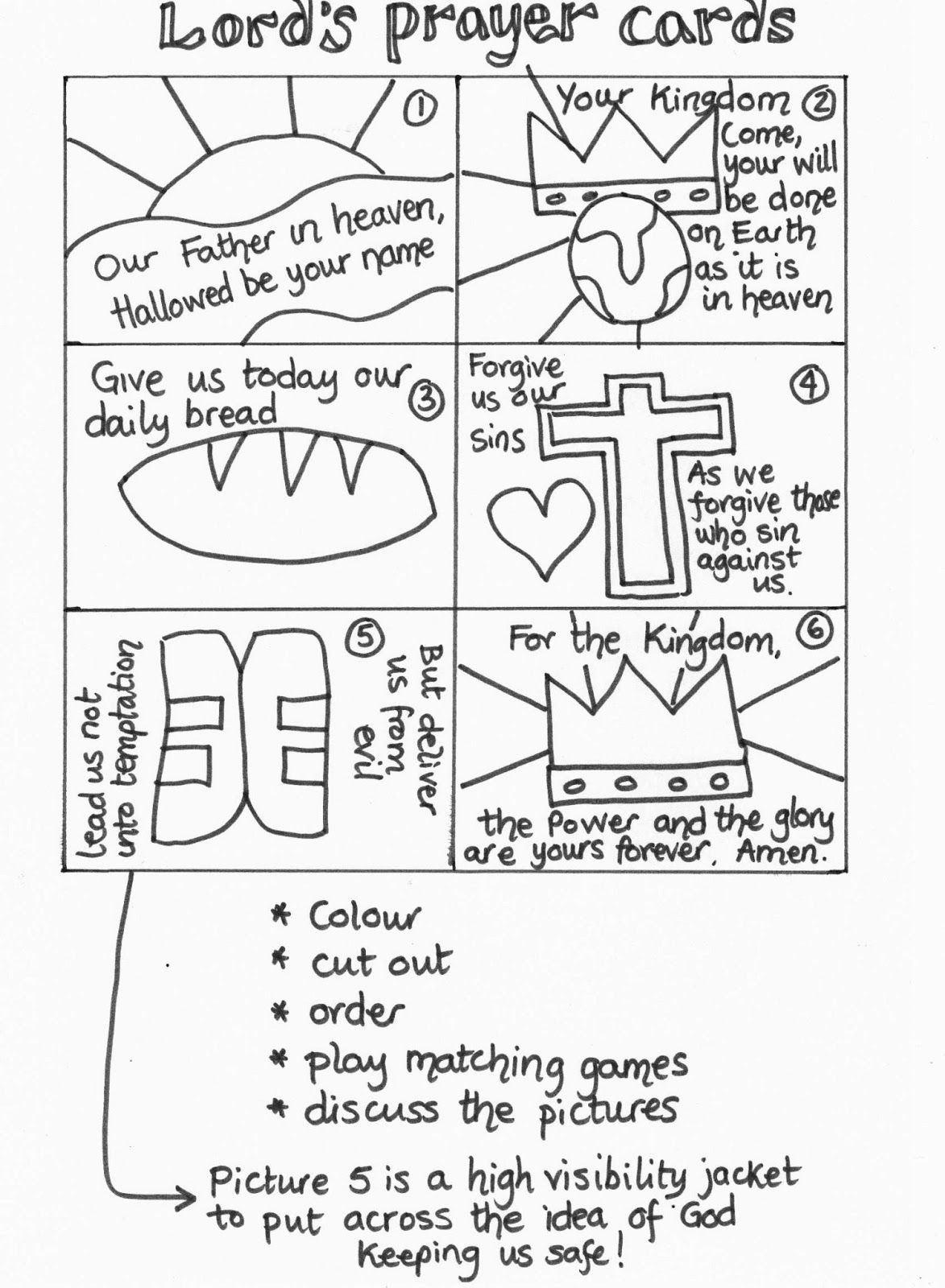 The Lord S Prayer Coloring Pages For Children