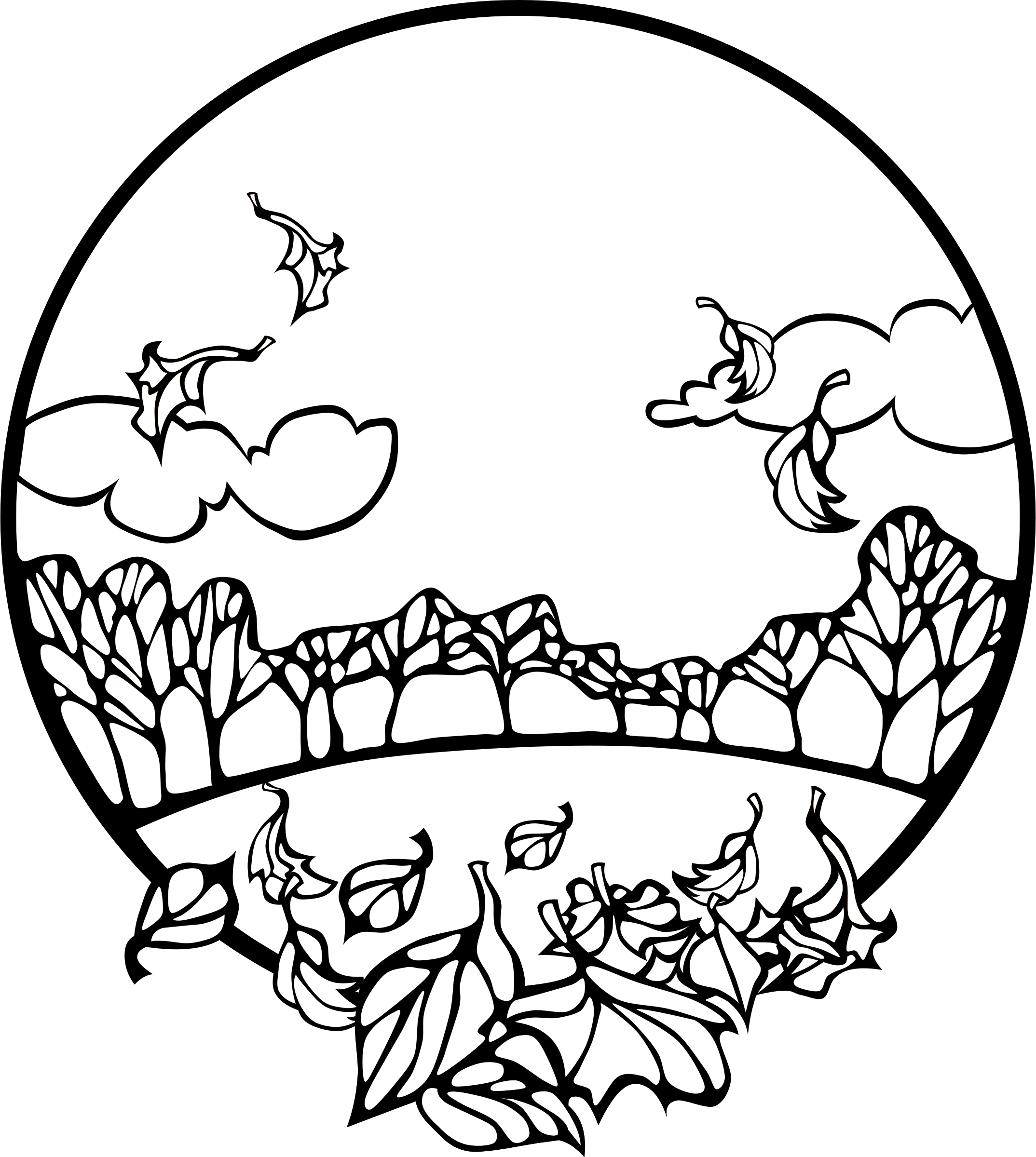 Coloring Pages Of Fall Scenes