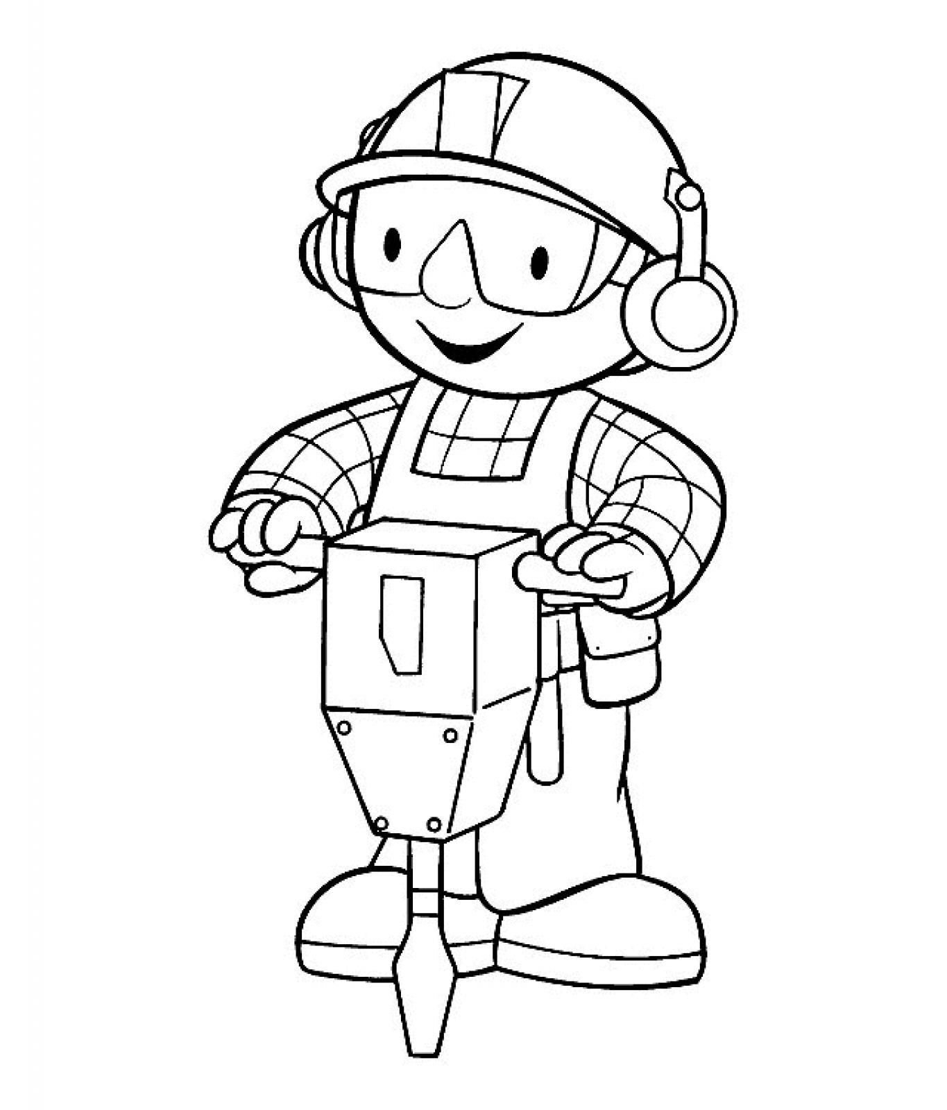 Bob The Builder Birthday Coloring Pages