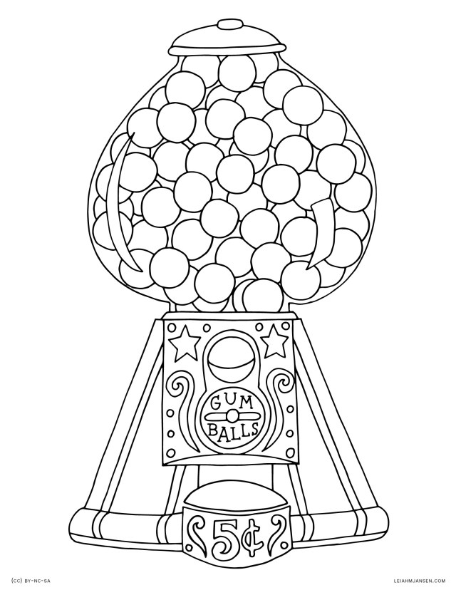 Gumball Machine Coloring Pages (Page 26) - Line.267QQ.com - Coloring