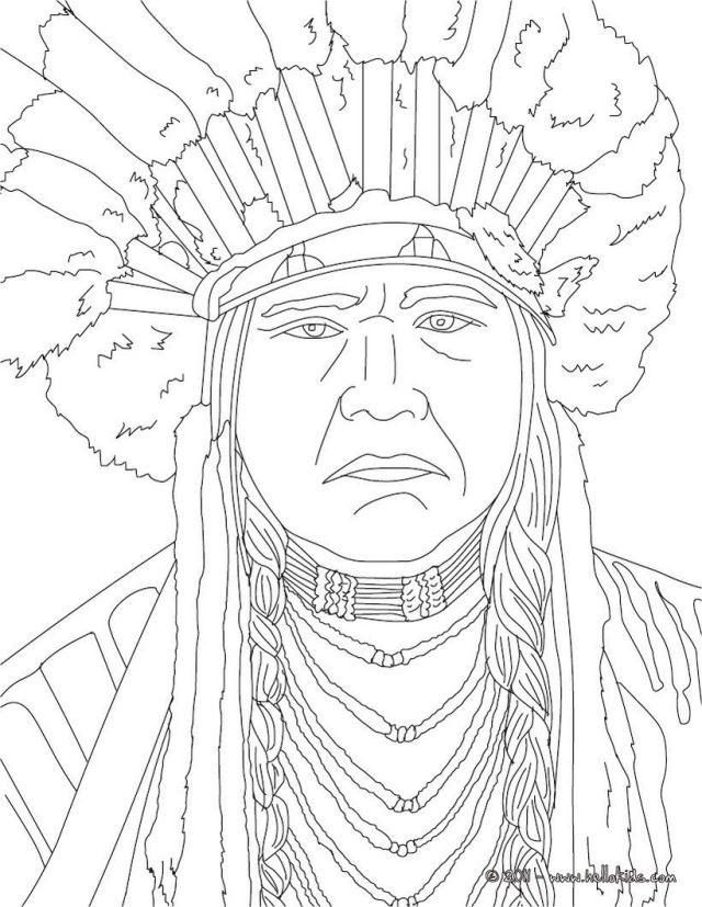 NATIVE AMERICANS Coloring Pages - POWHATAN - Coloring Home