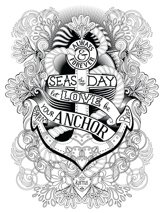 Coloring Pages : Cute Adult Coloring Pages New Hope Anchor