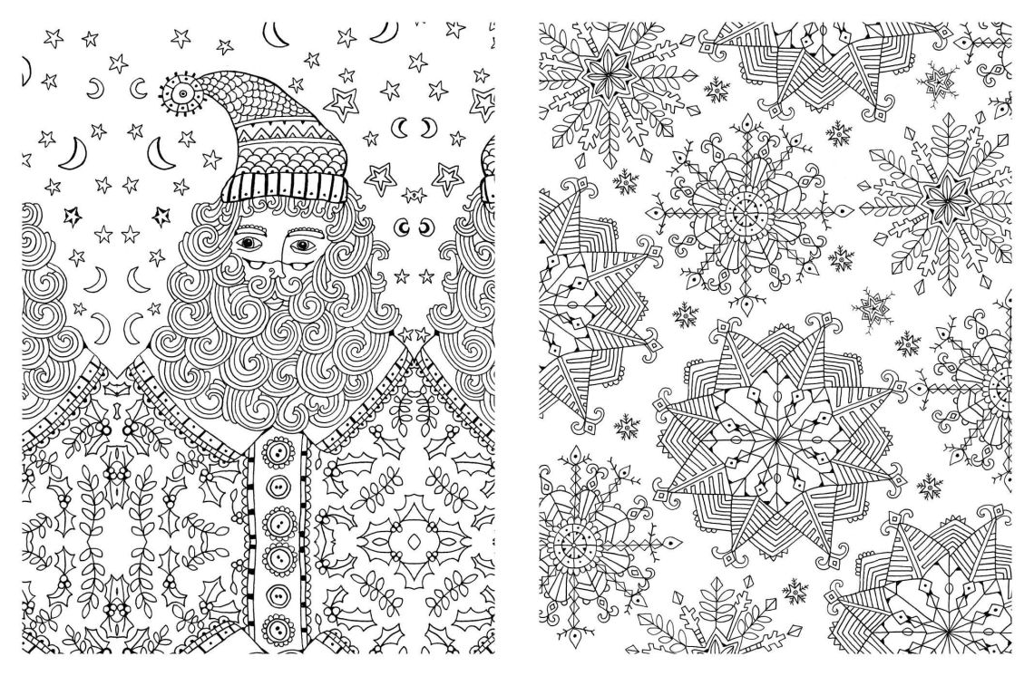 Christmas Adult Coloring Pages - Coloring Home   christmas coloring pages for adults