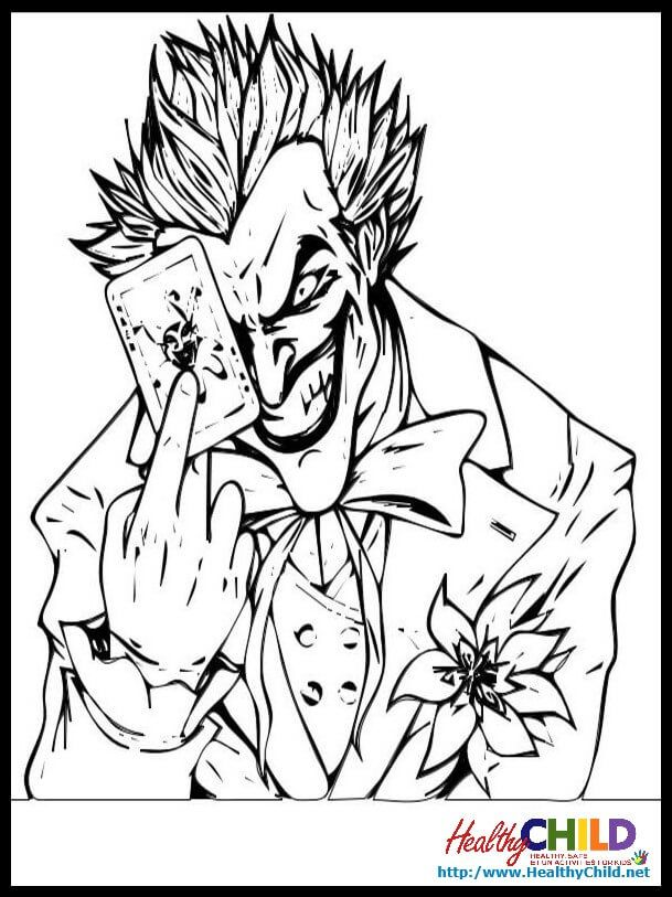 the joker coloring pages  coloring home