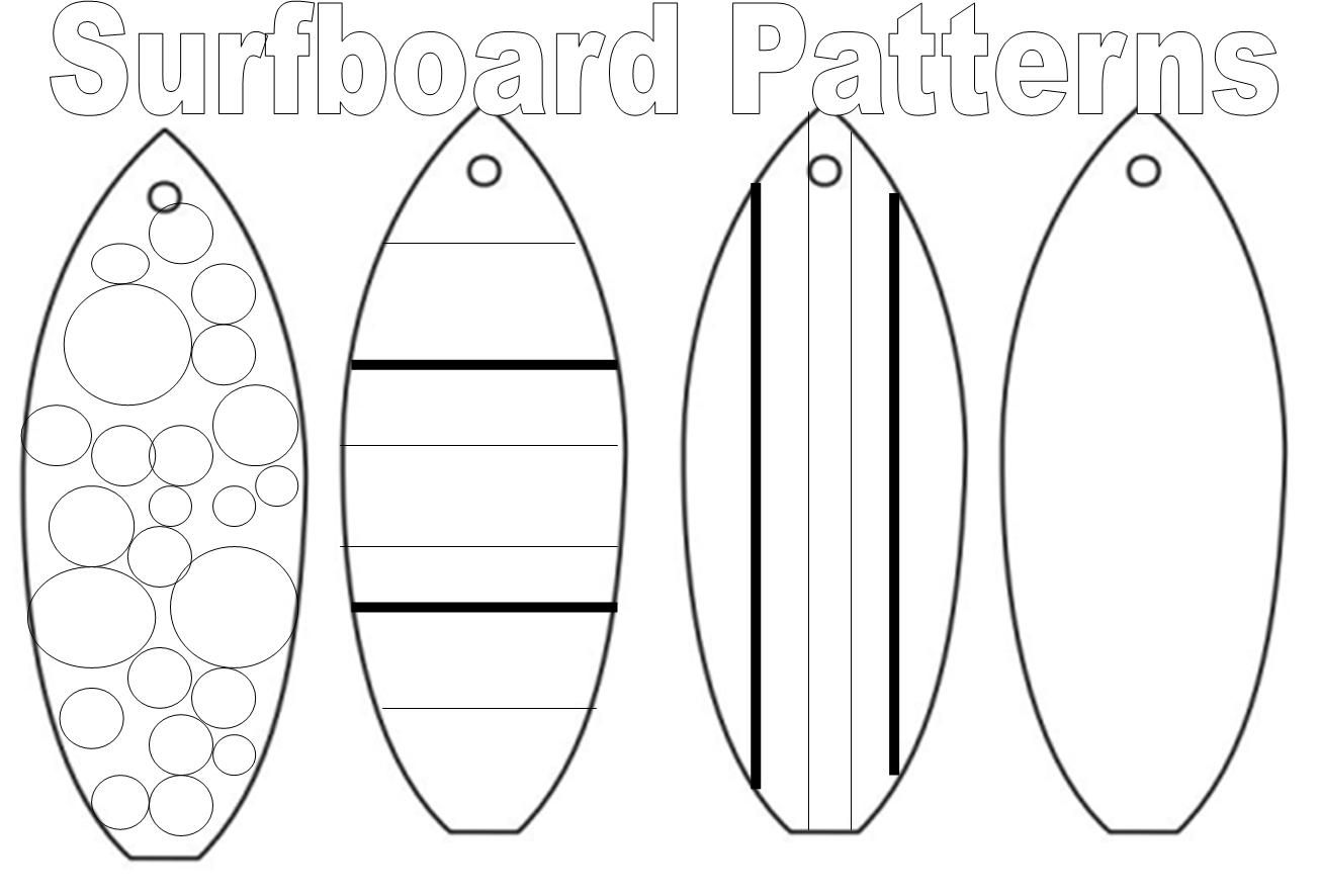 Printable Coloring Page Of Surf Board
