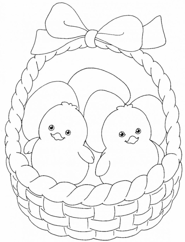 Easter Chicken Coloring Pages - Coloring Home