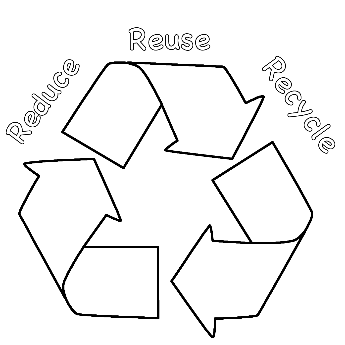 Recycling Coloring Pages For Kids