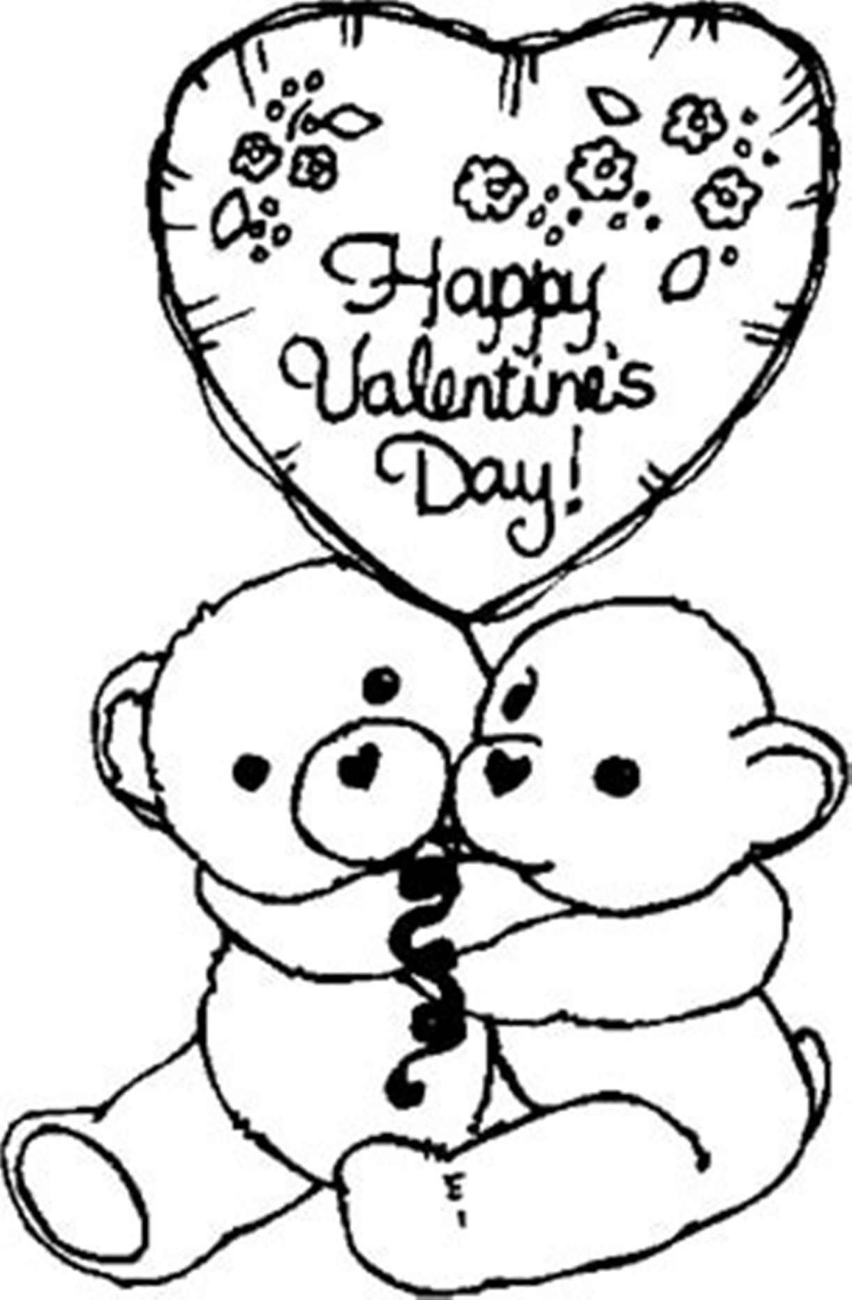 Printable Happy Valentines Coloring Pages