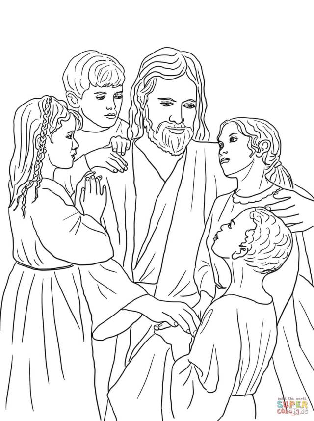 Jesus Loves All The Children Of The World Coloring Page - Coloring