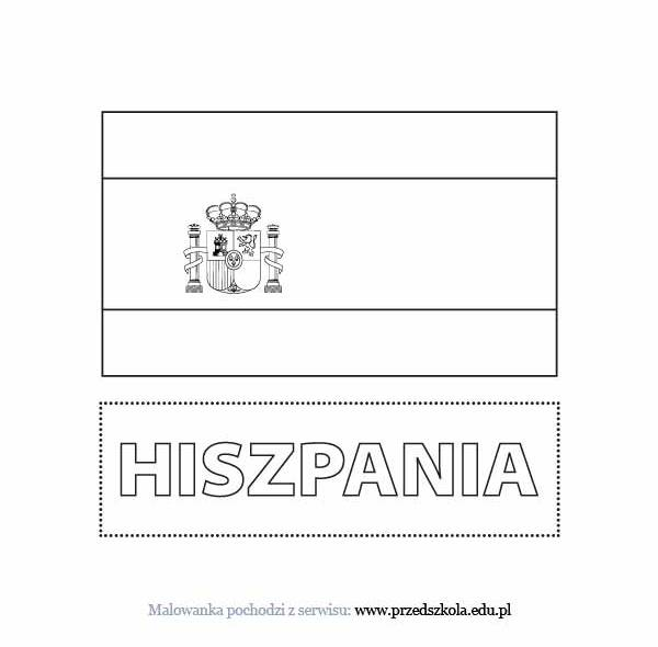 flag of spain coloring page  coloring home