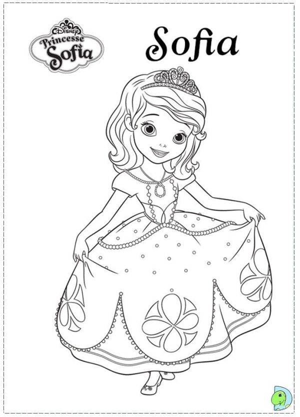 sofia the first printable coloring pages # 5