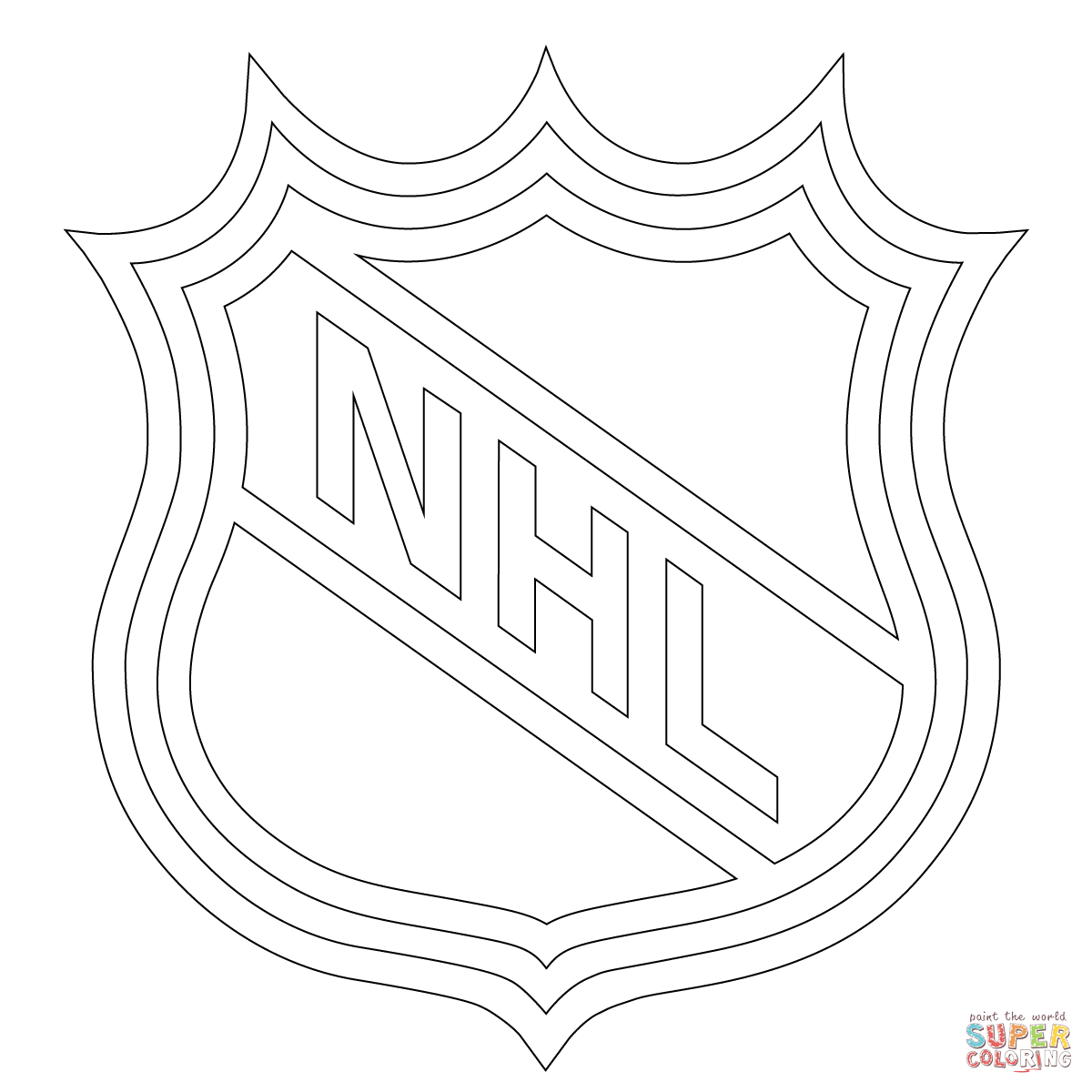 Nhl Symbols Coloring Pages
