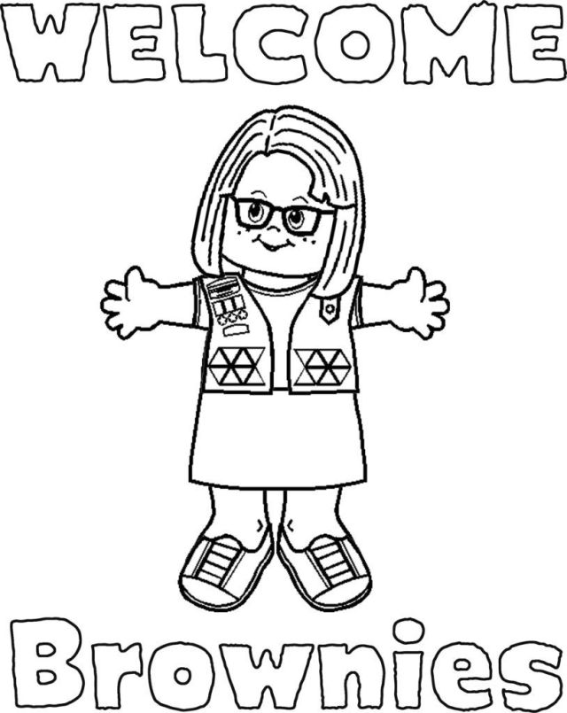 Girl Scout Coloring Pages For Brownies - Coloring Home