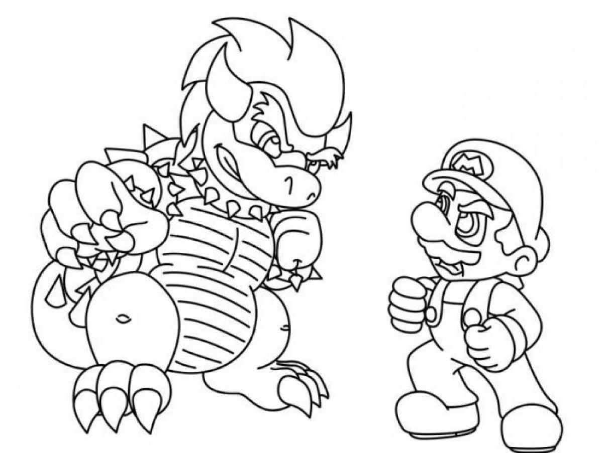 Bowser Coloring Pages Online