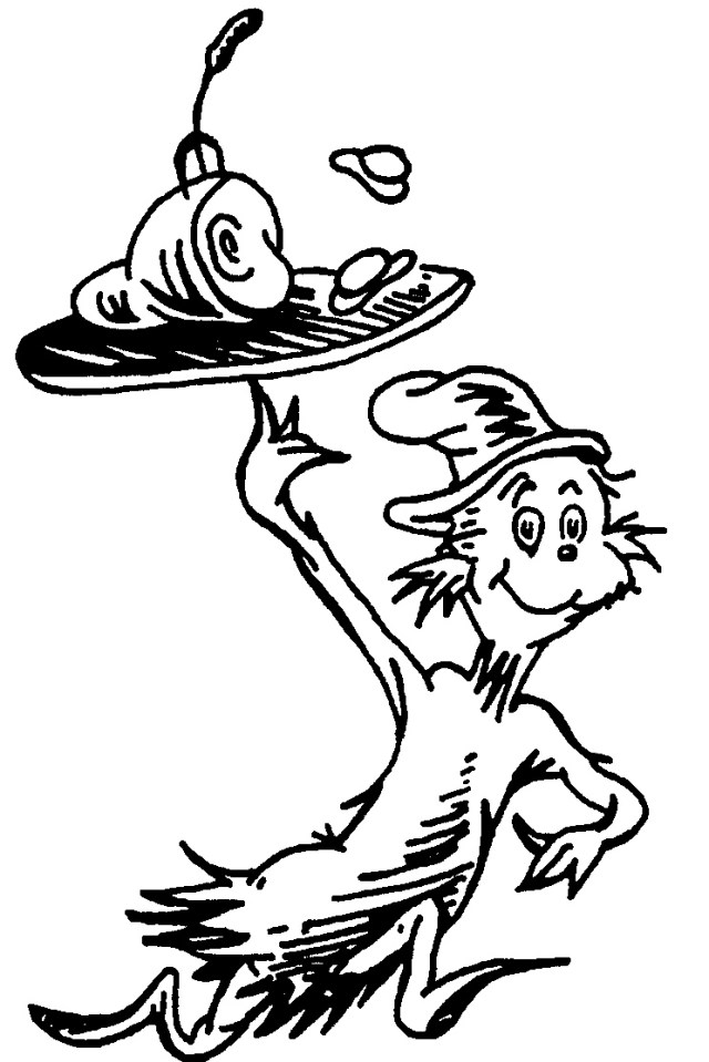Dr Seuss Green Eggs And Ham Coloring Page - Coloring Home