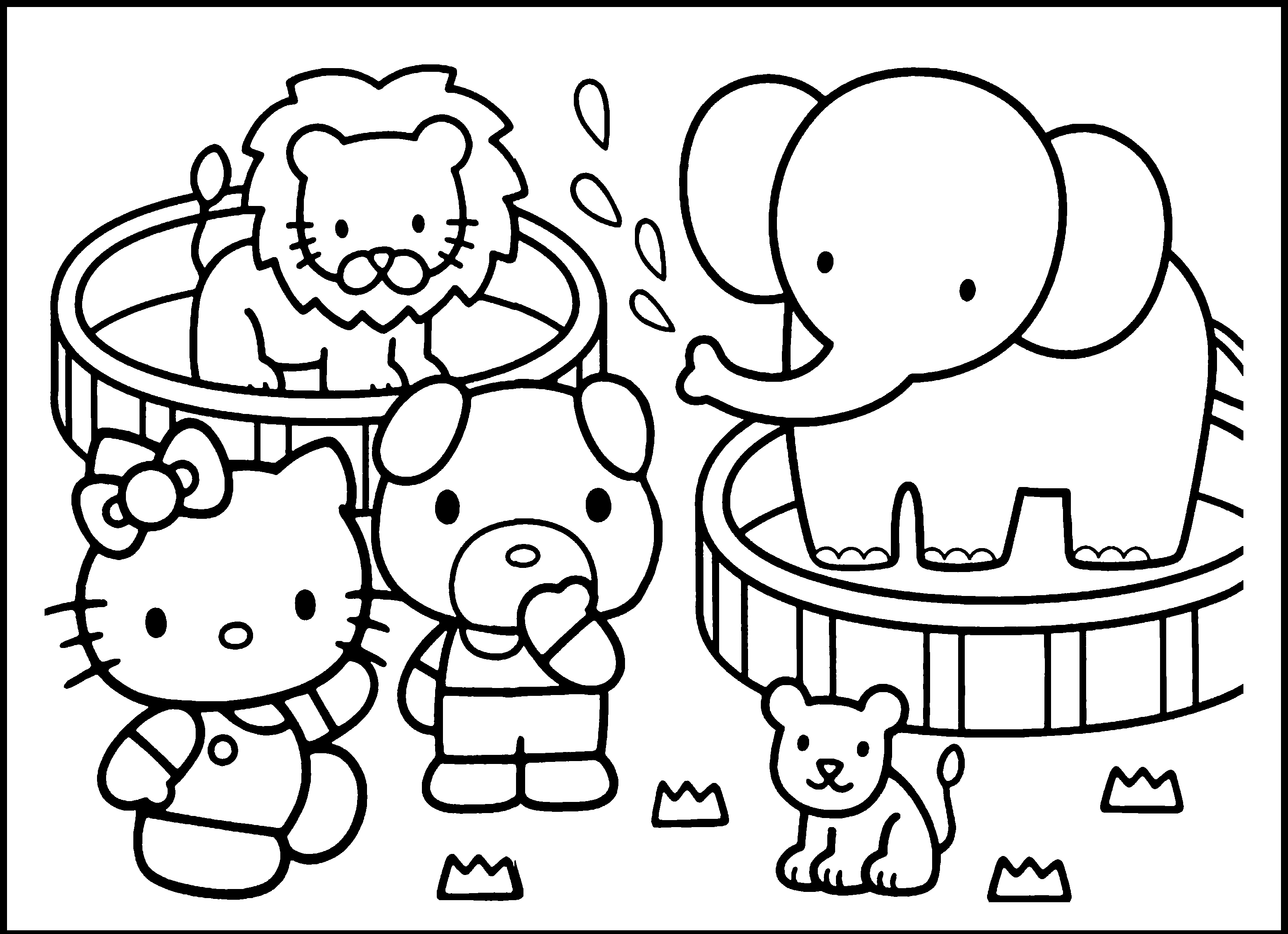 Preschool Zoo Coloring Pages