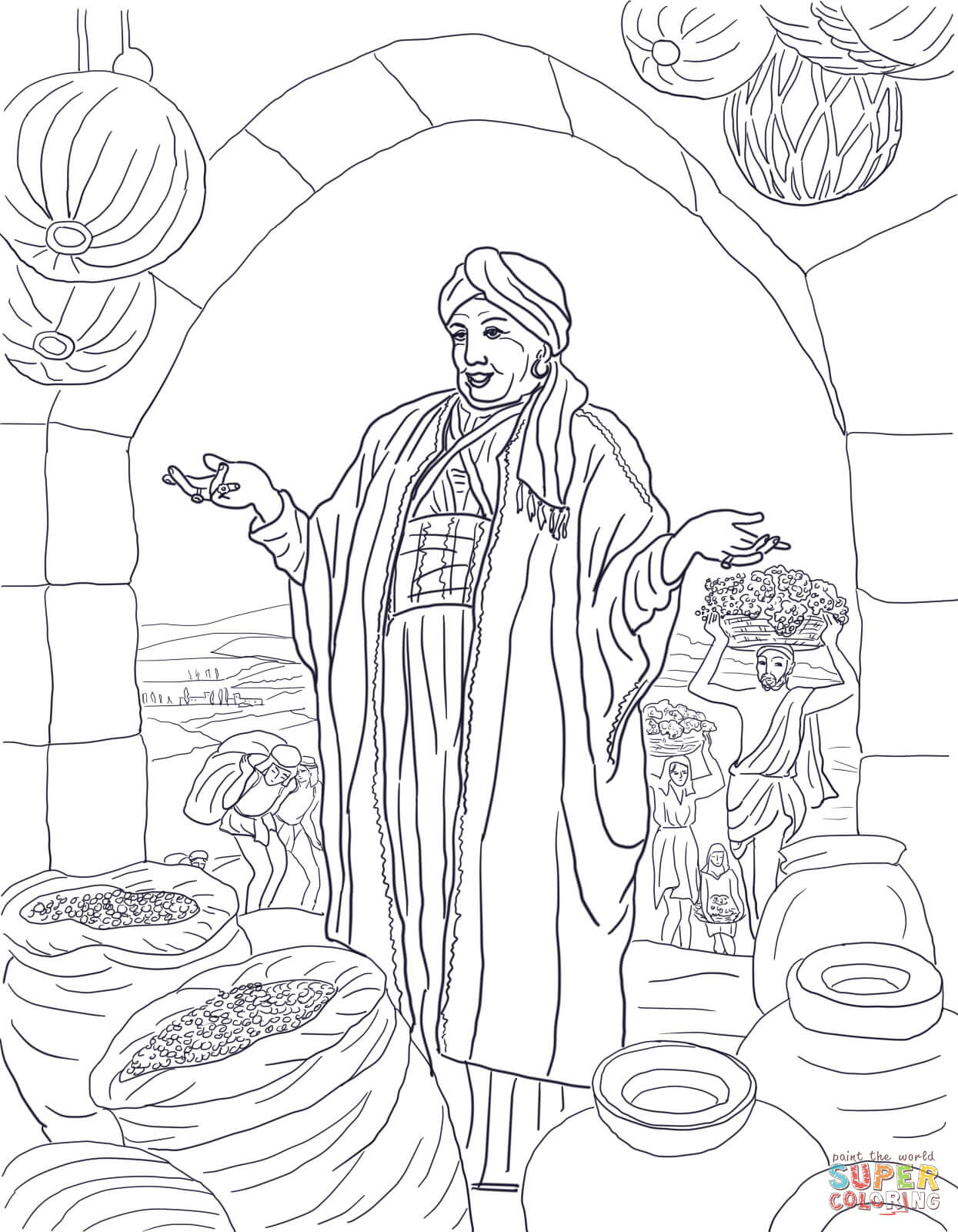 Parable Of The Rich Fool Coloring Page