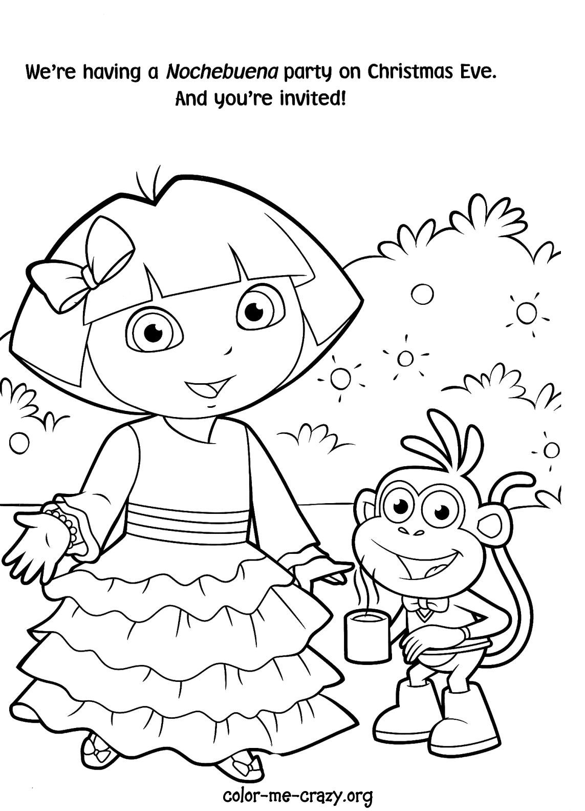 Dora Color Pages To Print