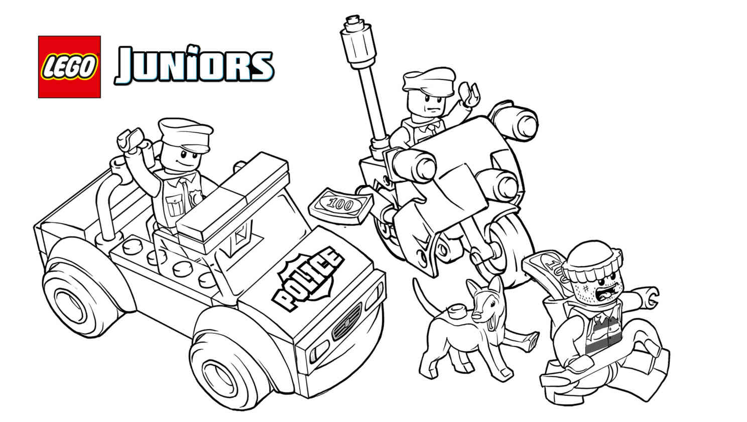 Lego Police Coloring Pictures