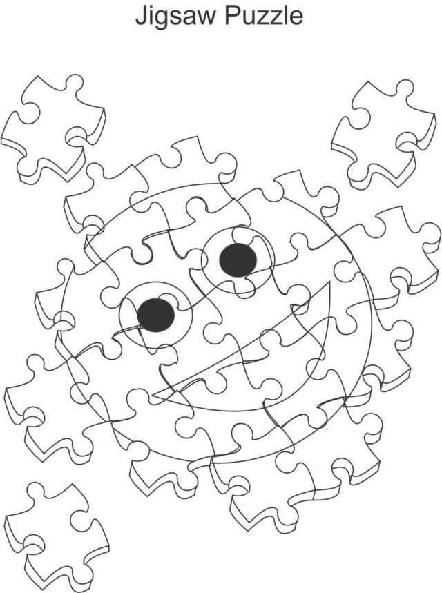 Jigsaw Puzzle Coloring Printable Page For Kids - Coloring Home