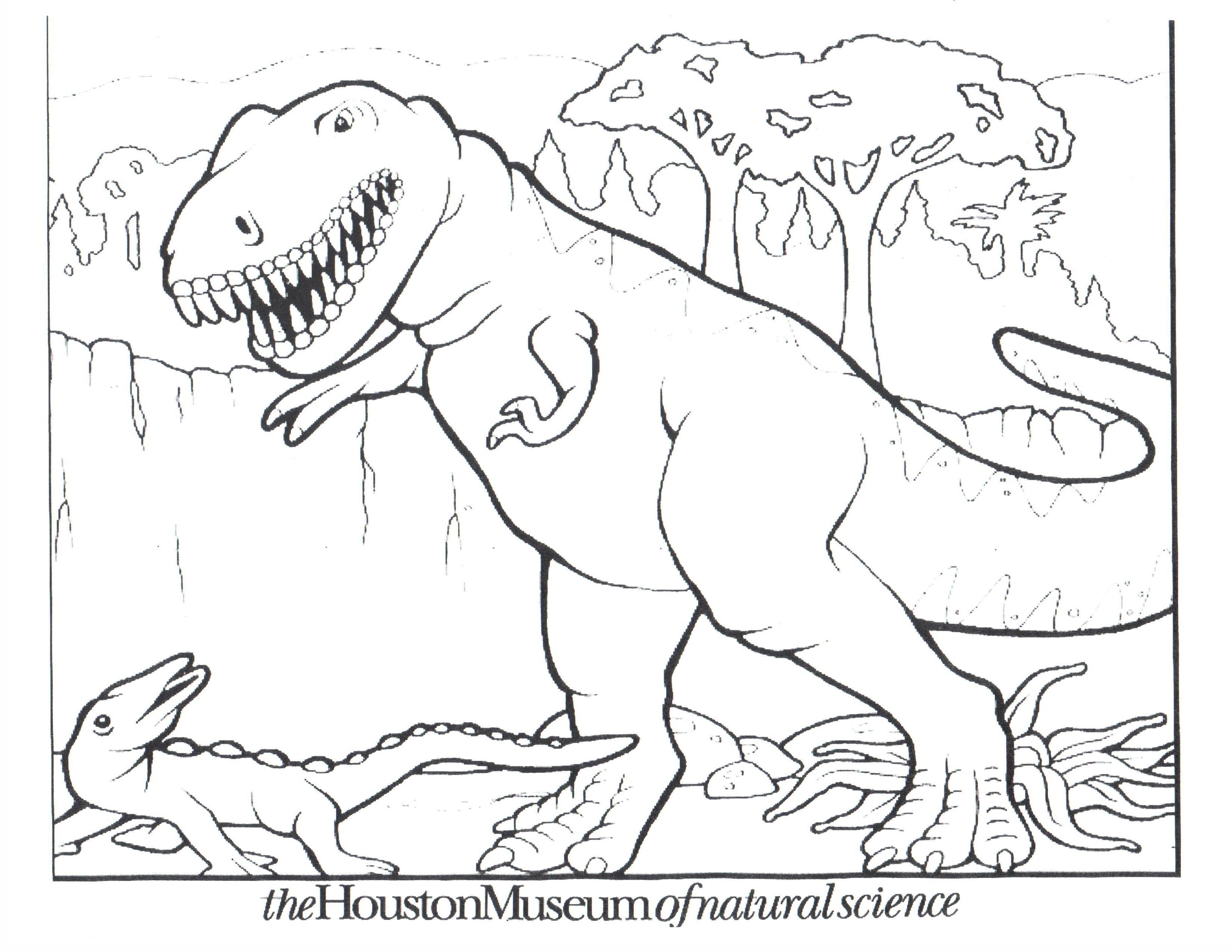 Dinosaur T Rex Coloring Pages