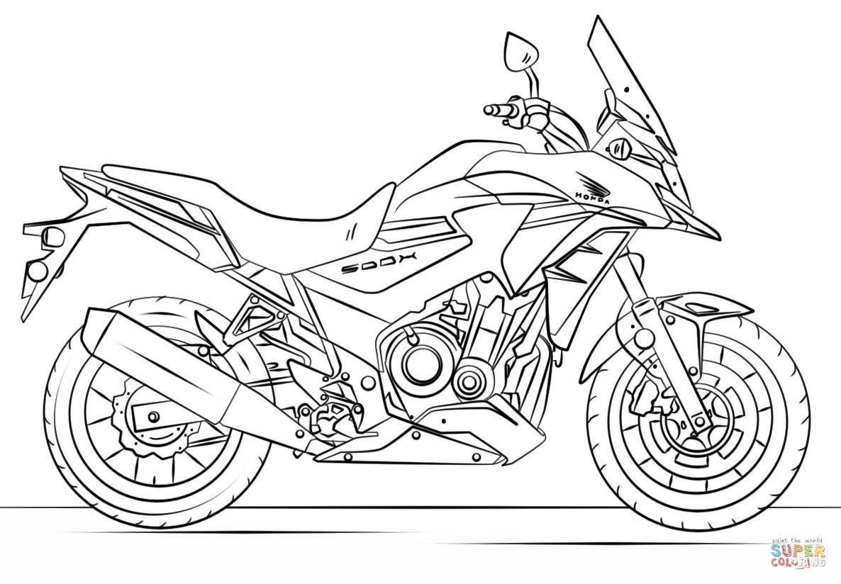 Motor Bikes Coloring Pages
