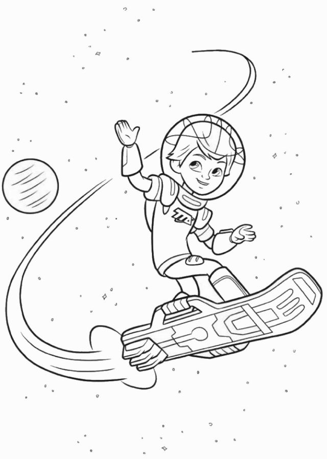 Miles From Tomorrowland Coloring Pages - Coloring Home