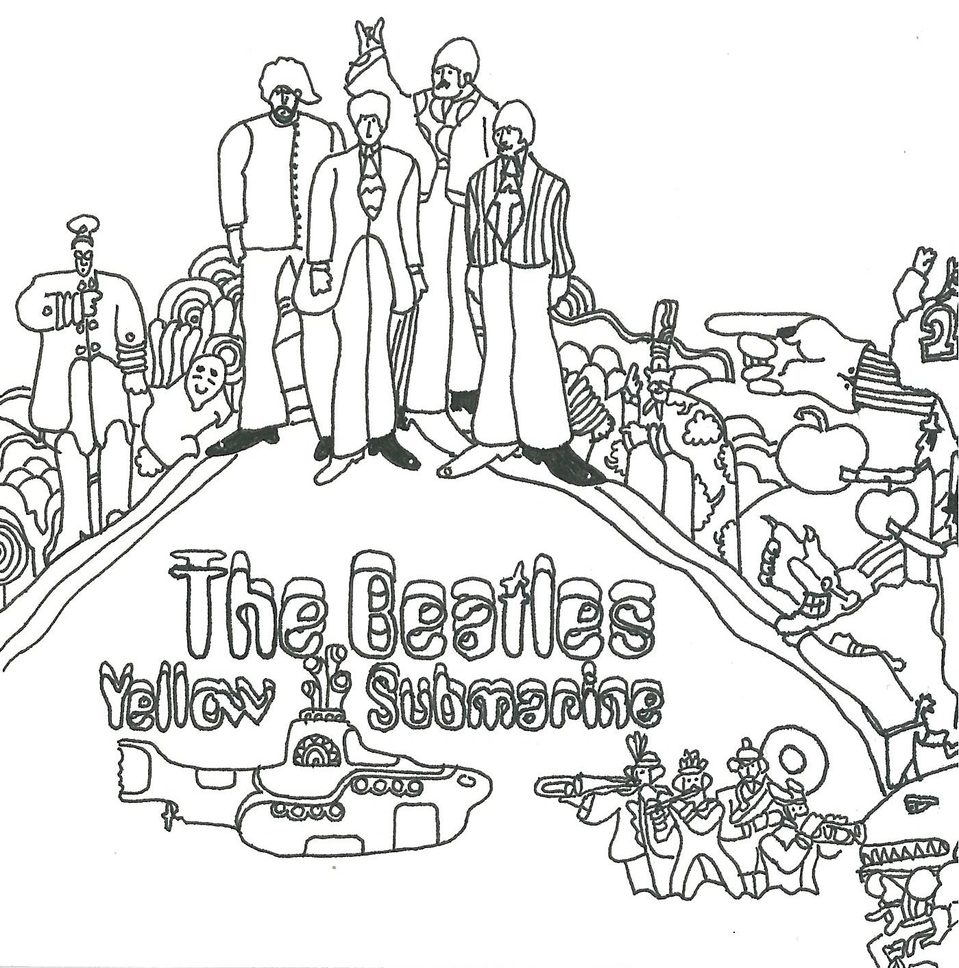 Beatles Yellow Submarine Coloring Page