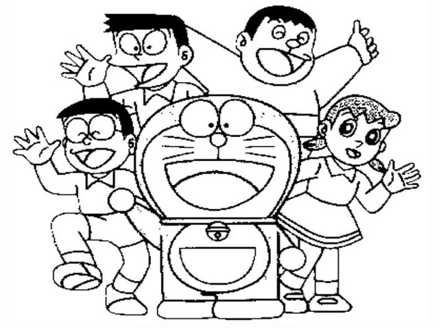 Doraemon Coloring Pages  Realistic Coloring Pages - Coloring Home