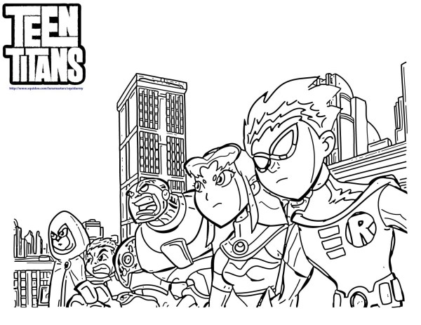 teen titan coloring pages # 10