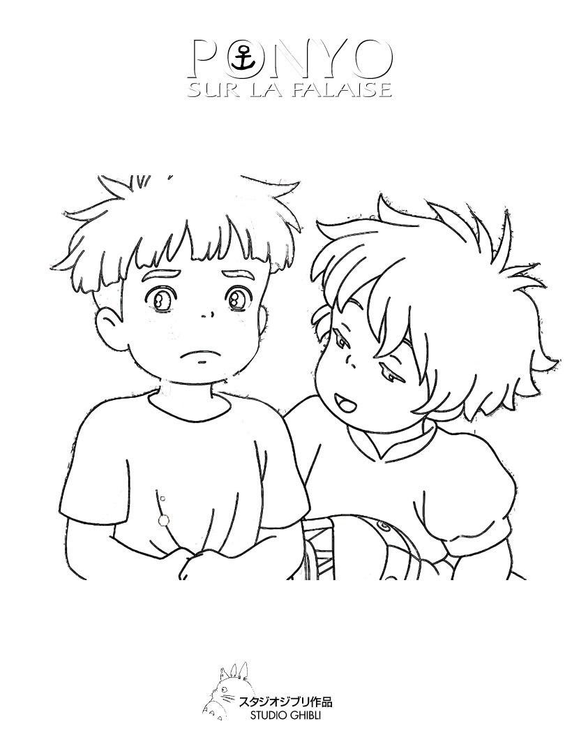 ponyo coloring pages  coloring home