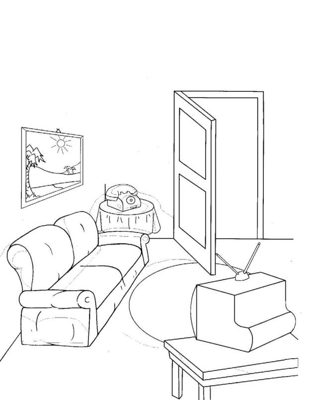The Best Free Living Room Coloring Page Images. Download From 26