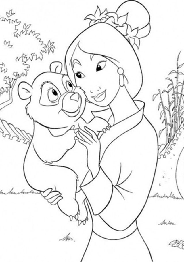 Mulan Coloring Pages Online Free - Coloring Home