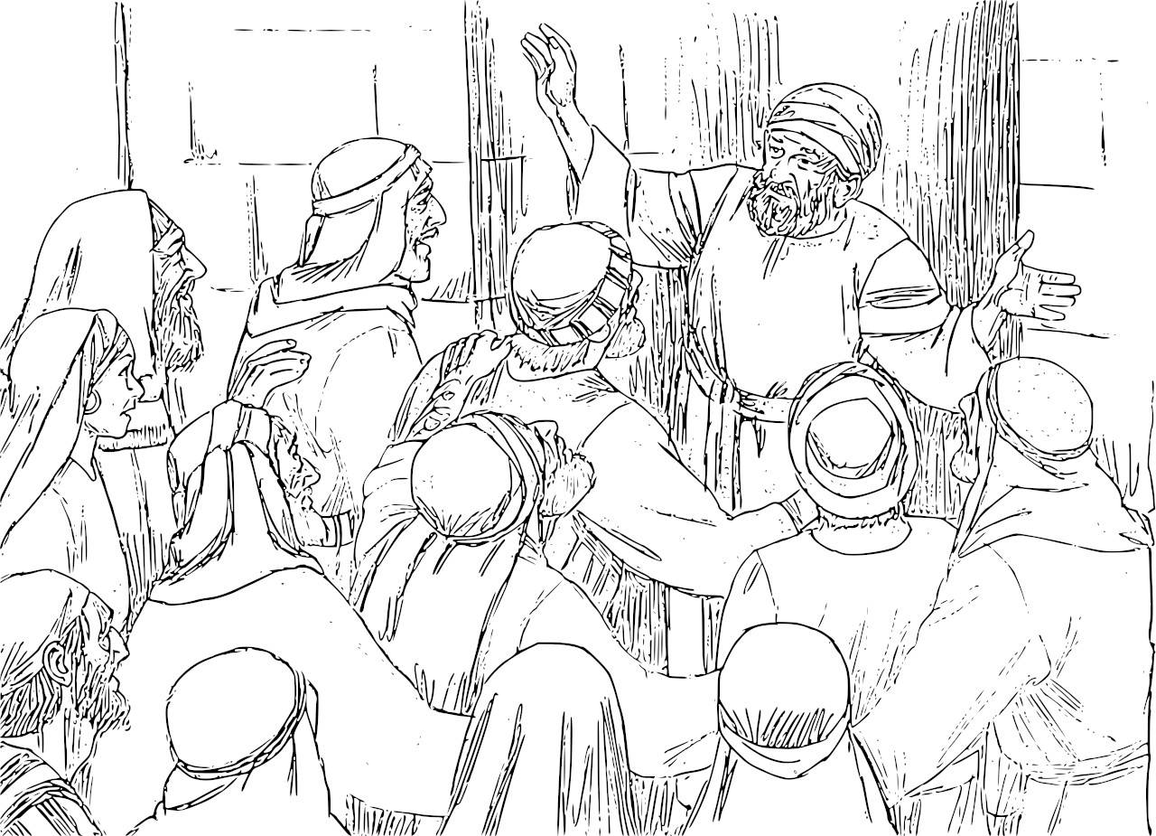 Angel And Zechariah Coloring Page Coloring Pages For All Ages