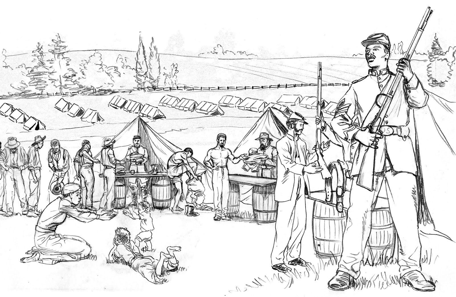 Civil War Coloring Pages 17 Pictures