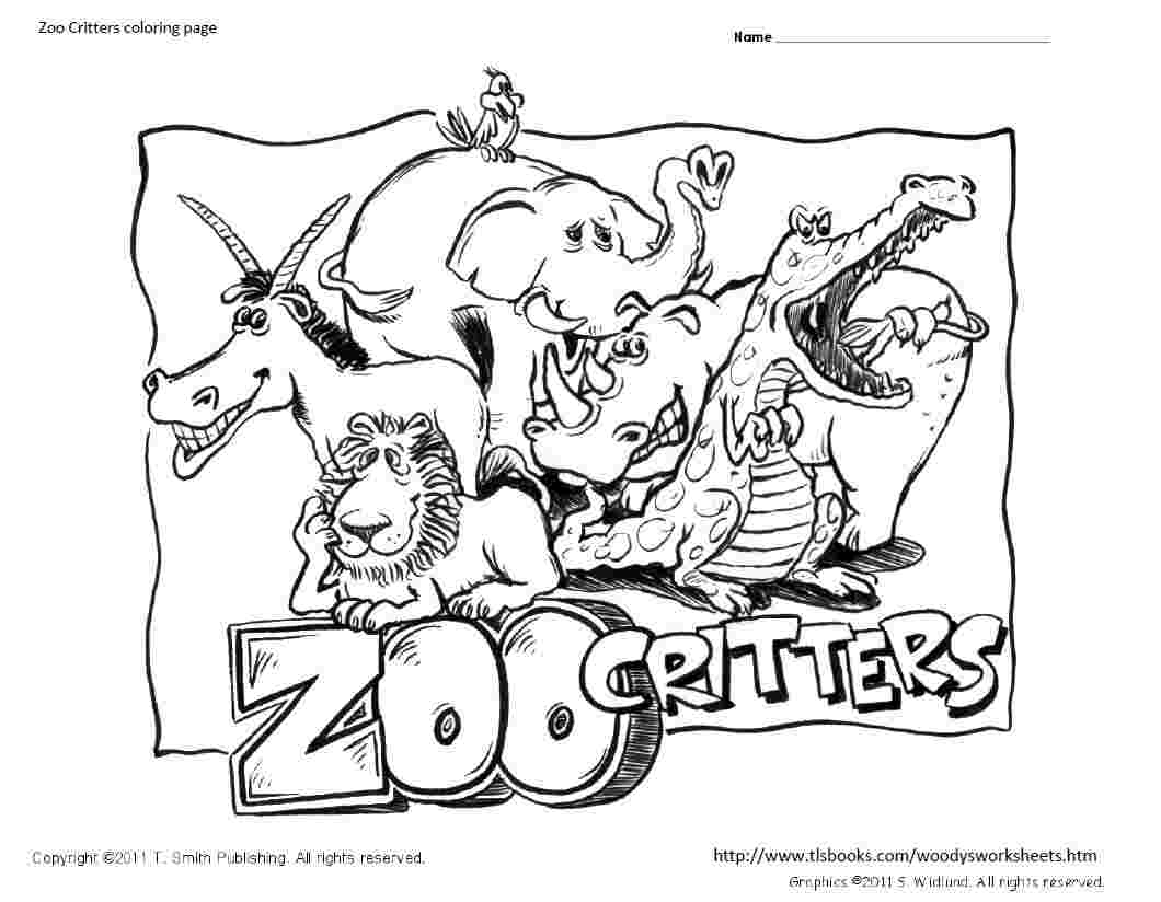 Zoo Critters Coloring Page