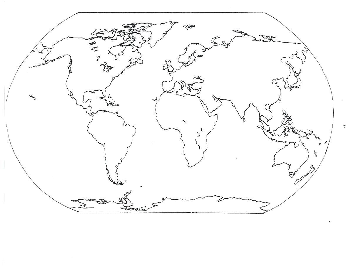 The Continent Of Africa Coloring Page