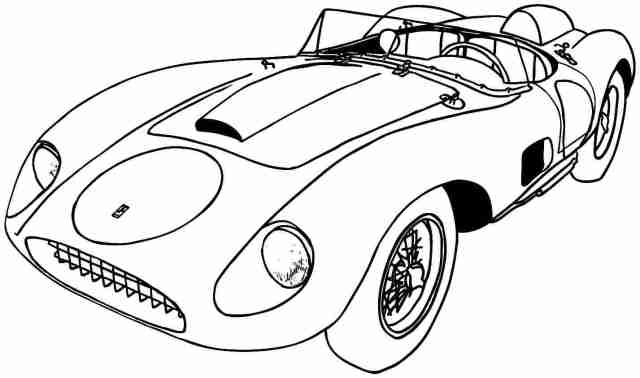 Sports Car Printable Coloring Pages Sports Car Coloring Pages Free