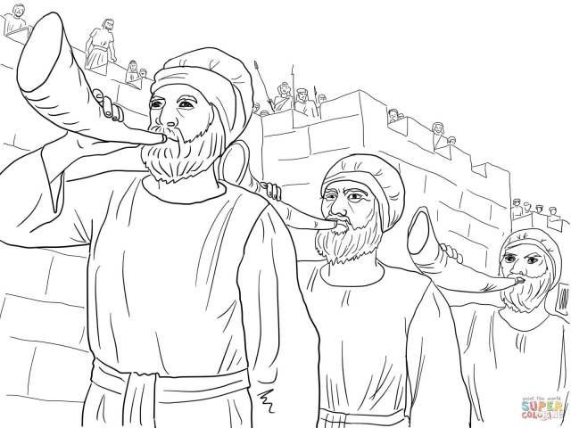 Battle Of Jericho - Coloring Pages For Kids And For Adults