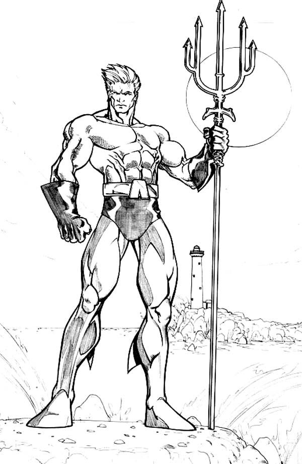 aquaman coloring pages # 7