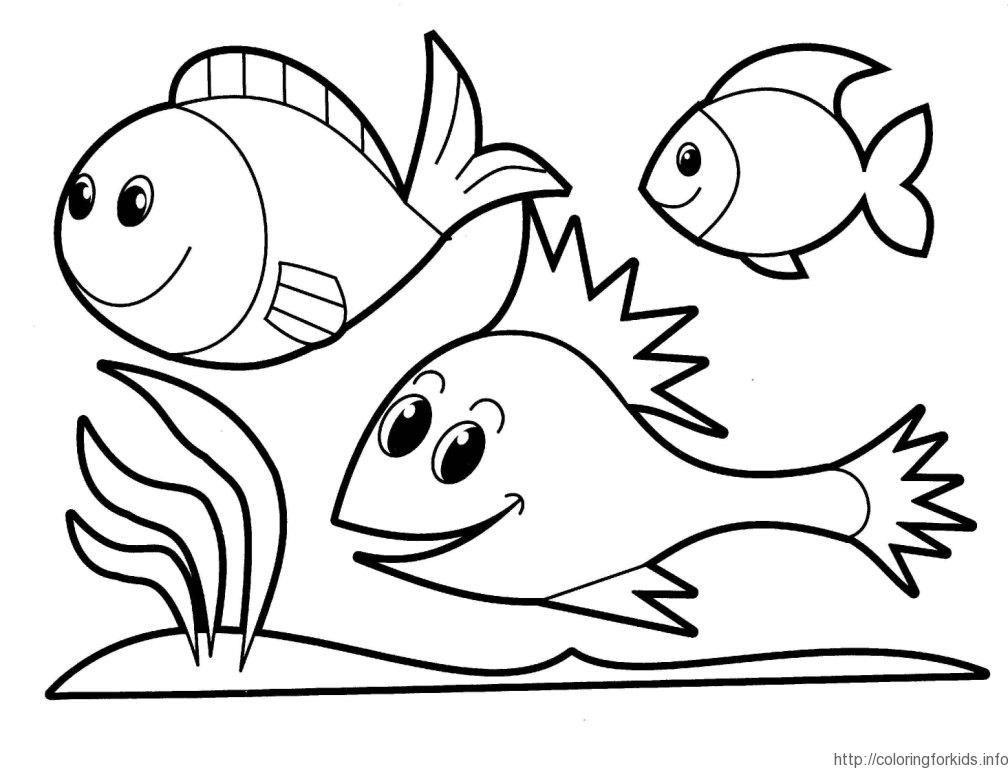 Fish Coloring Page Preschool Coloring Home