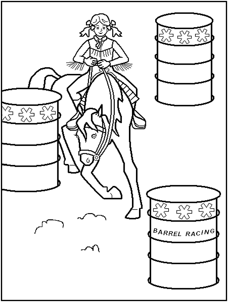 rodeo coloring page  coloring home